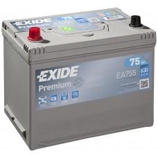 EXIDE Premium 75Ah CCA 630EN EA755