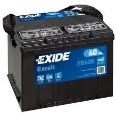EXIDE Excell 60Ah CCA 640EN EB608
