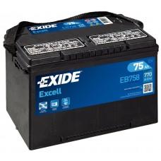 EXIDE Excell 75Ah CCA 770EN EB758