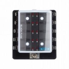 Zekering distributor 10 met led signalering / opbouw